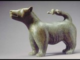 Dog with Man-tail (1983) Brazilian soapstone
