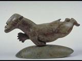 Bearman Swimming (1990) Brazilian soapstone/inlay