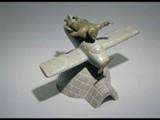 Airplane (past, present, future) (1994) Brazilian soapstone/inlay