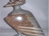 Gazing at the Moon  (2002) Brazilian Soapstone with inlay