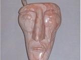 A Hunter's Memories (2002) Colorado Alabaster, Brazilian Soapstone, Deer Horn