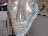 Manialoq (Bear-Man) (2001) Italian crystal alabaster/wood/light