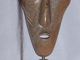 Sila Spirit Mask (Arctic Winds that Blow into You)  (2002) Brazilian Soapstone, Horse Hair